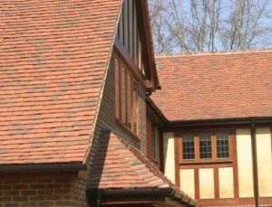 new tiled roof