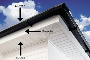 fascia and soffit pointed out