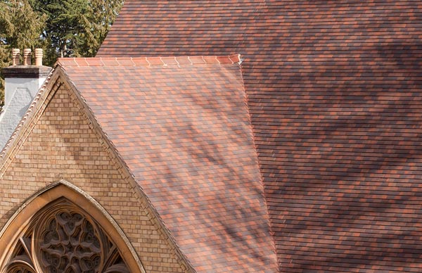 Plain tiled roof