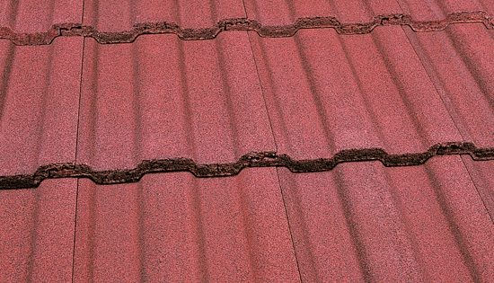 Interlocking Tile Dark Red