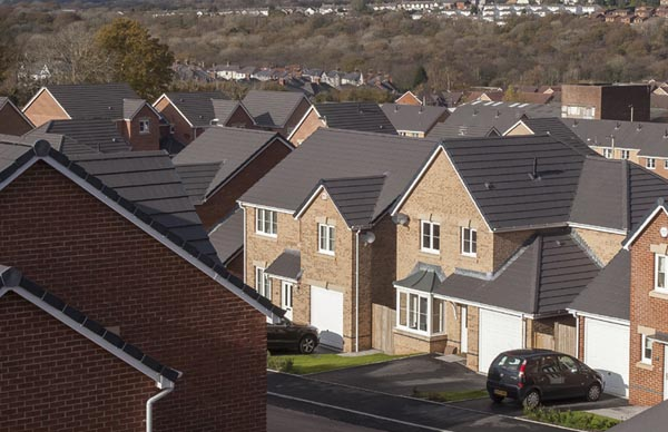 Modern tiled roof