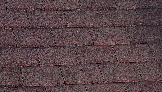Plain tile dark red
