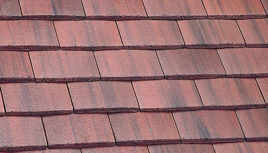 Plain tile old english dark red