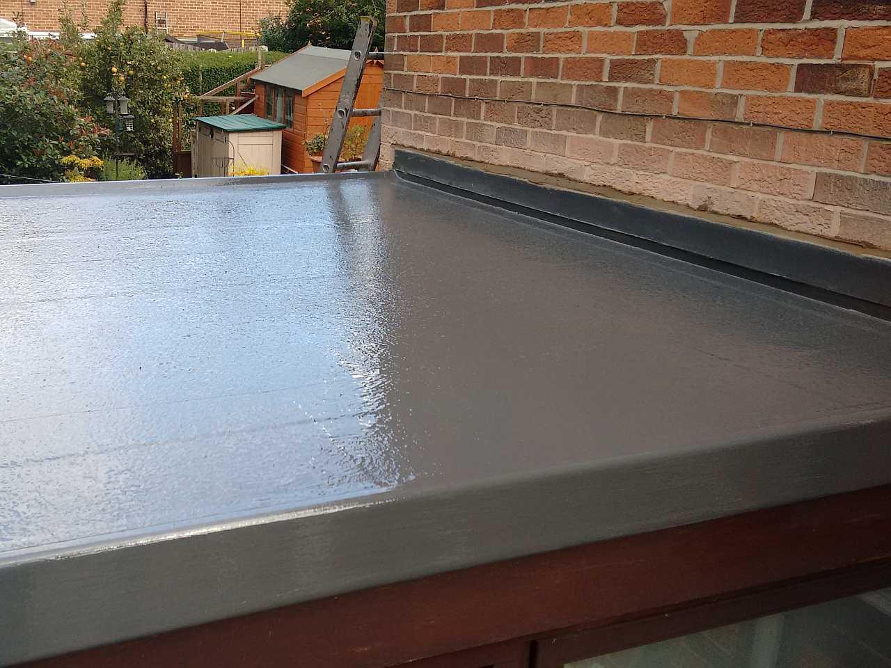 GRP Fibreglass flat roof.
