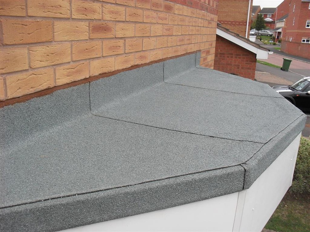 torch-on felt flat roof
